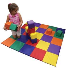 Patchwork Floor Mat & Blocks