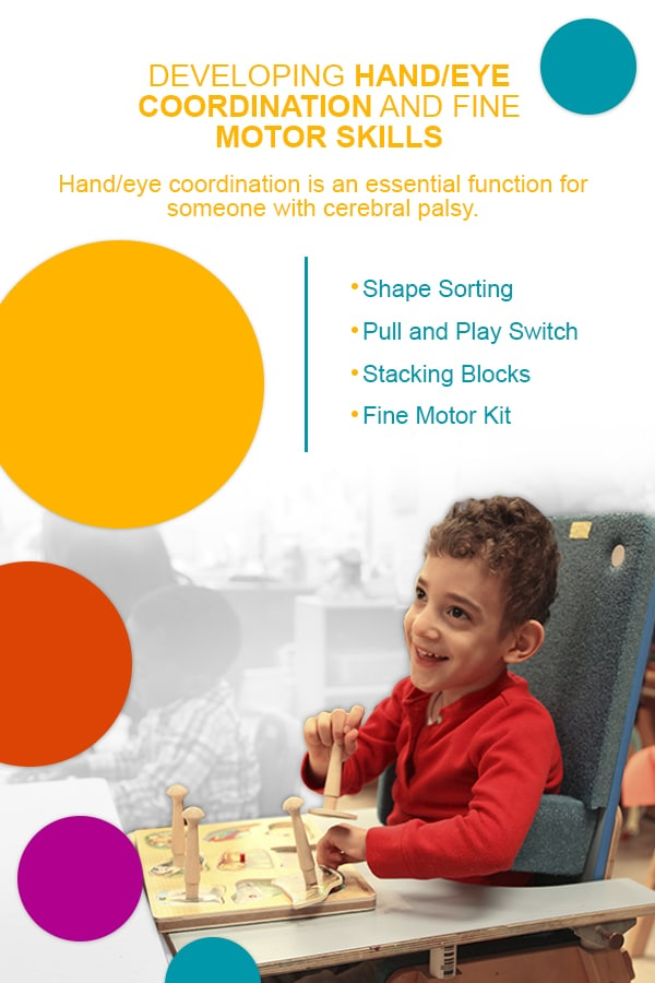 developing hand eye coordination for people with cerebral palsy