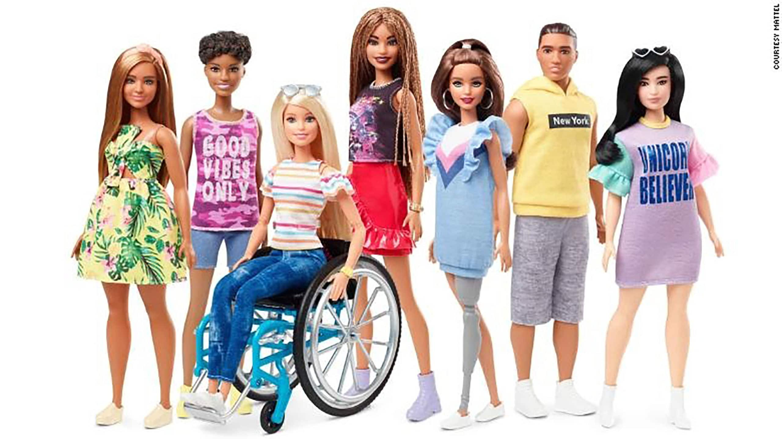 New Barbie Doll in Wheelchair