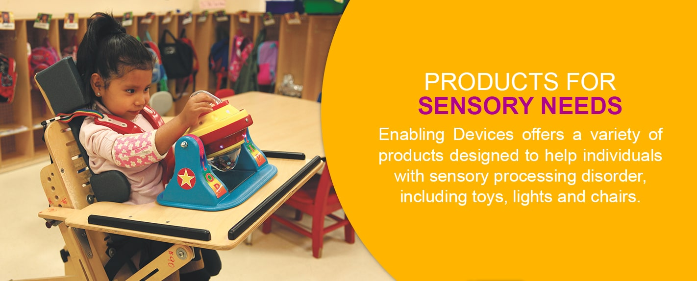 products for sensory needs for those with cerebral palsy