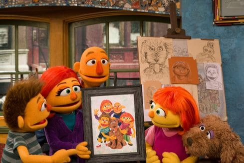 Sesame Street's Julia with her Family