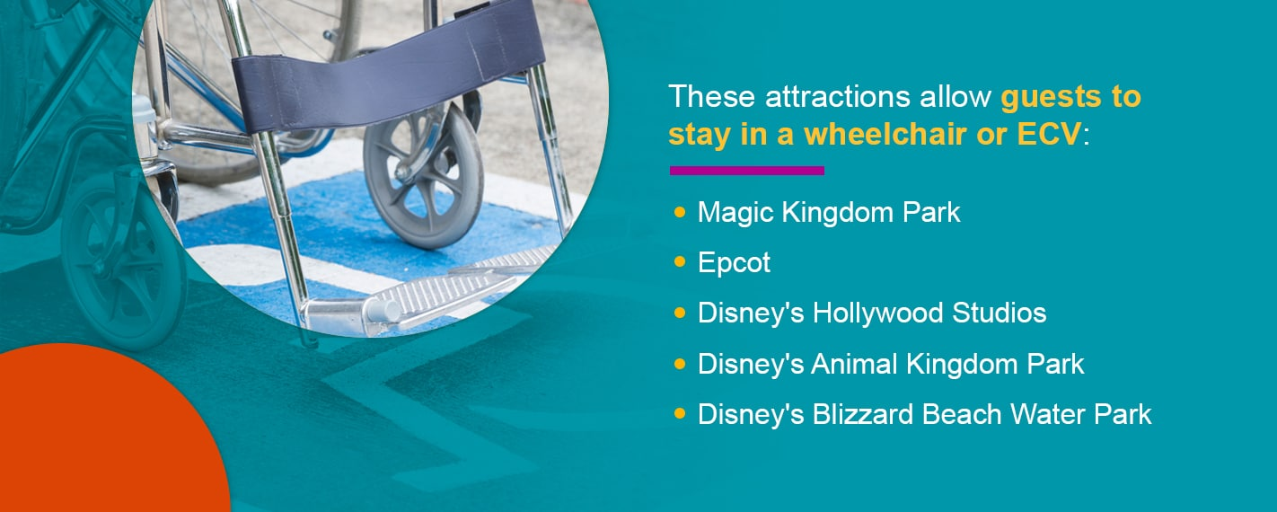 handicap accessible rides at Disney