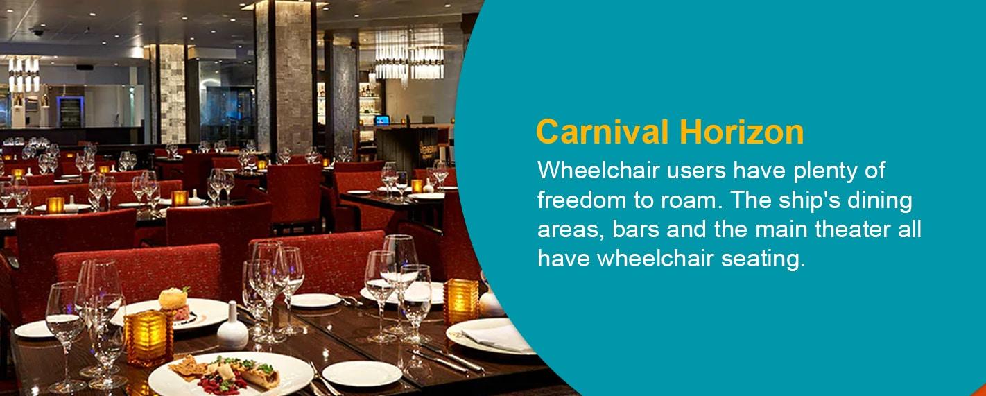Carnival Horizon Cruise wheelchair accessible