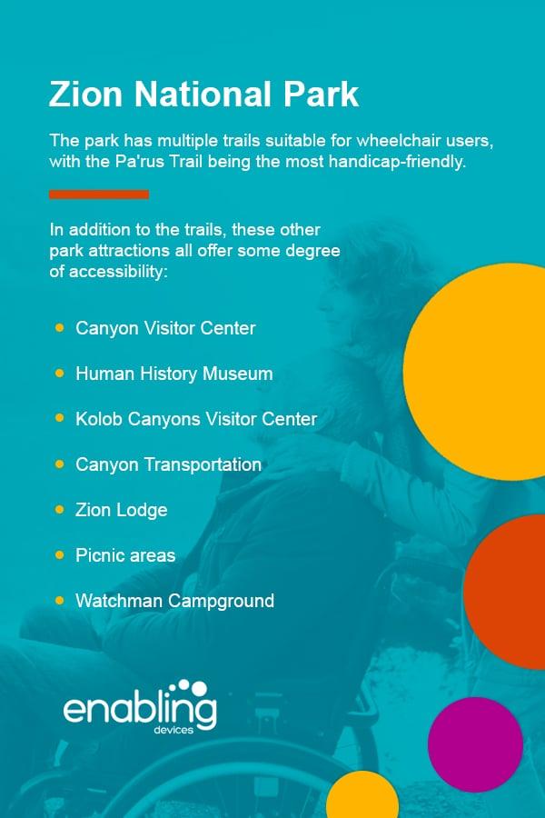 handicap accessibility Zion National Park