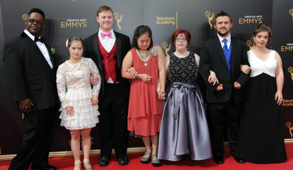 Actors from Born This Way at the Emmys