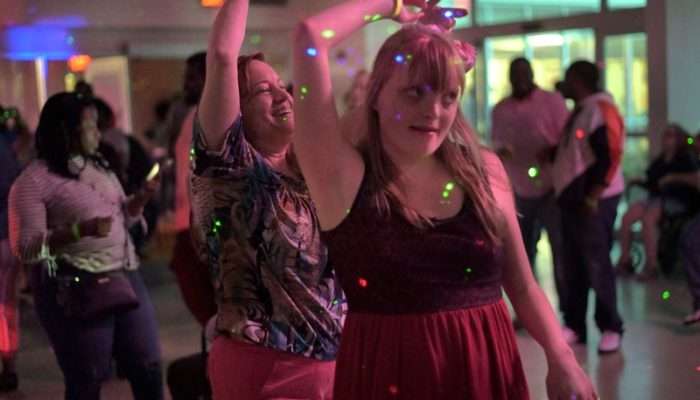 Girl with Disability Dancing with her Mother