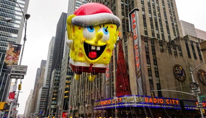 Thanksgiving Parade Float with Sponge Bob