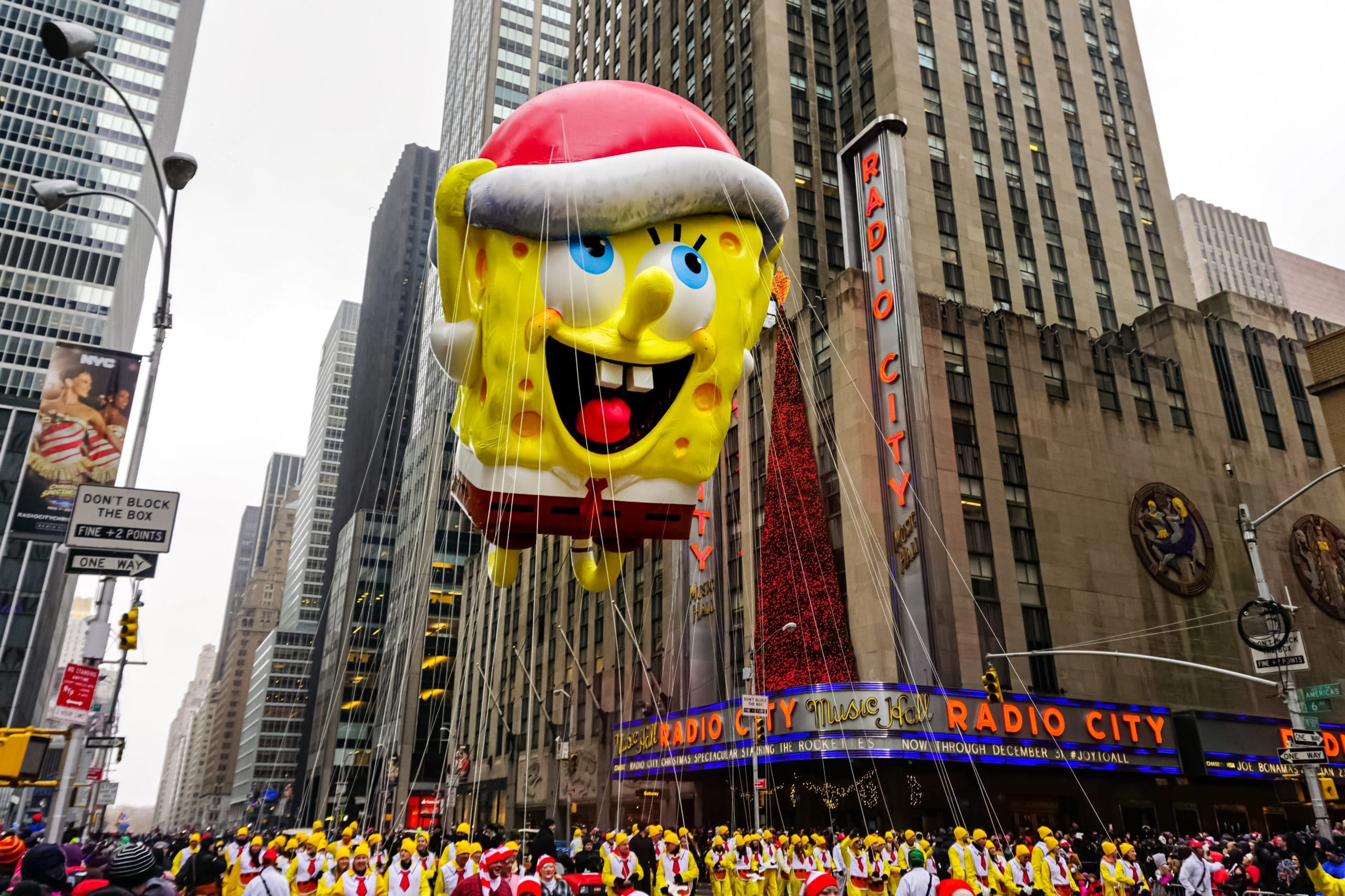 Thanksgiving Parade Float with Sponge Bob