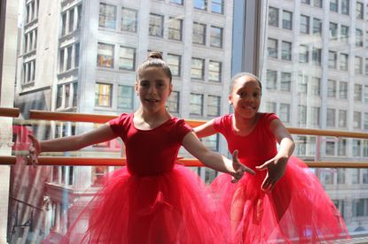 Two ballerinas with disabilities